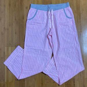 Victoria's Secret metallic stripe pajama pant M